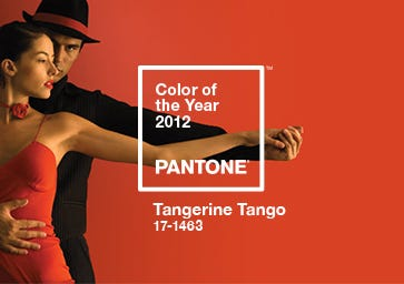 Color of the Year 2012: PANTONE 17-1463 Tangerine Tango