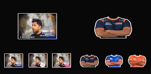 Kabaddi Team Support DP Maker - Kabaddi Photo Suit