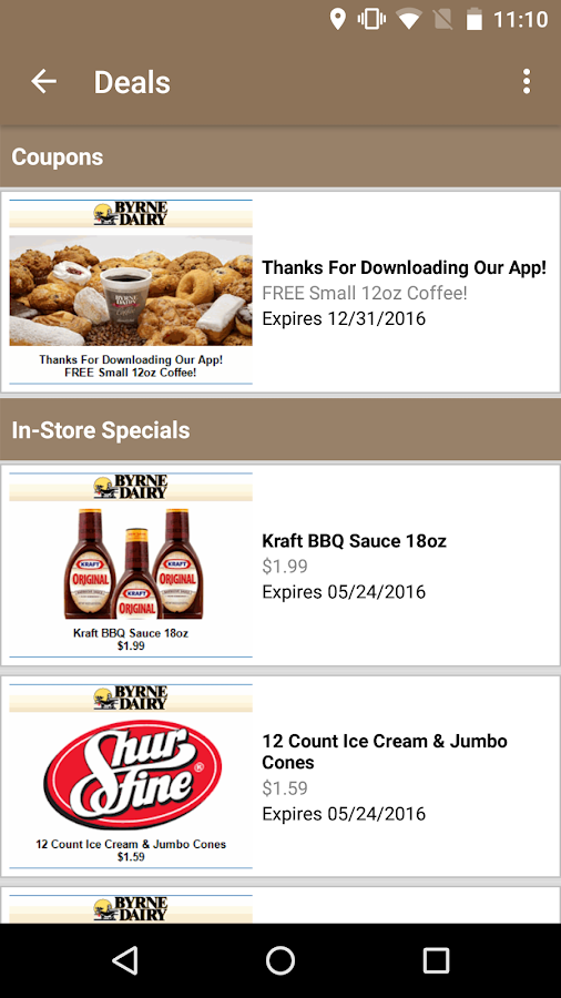Byrne Dairy Deals App- screenshot
