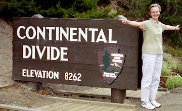 Photo: Straddling The Continental Divide, Yellowstone National Park (July 2004)
