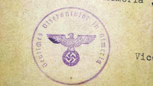 Sello nazi en una carta recibida en Almería.