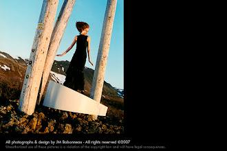 Photo: SPACE QUEEN SURFING in Iceland, 2000. © concept & photo by jean-marie babonneau all rights reserved www.betterworldinc.org  model: sara dögg jakobsdóttir (eskimo models)