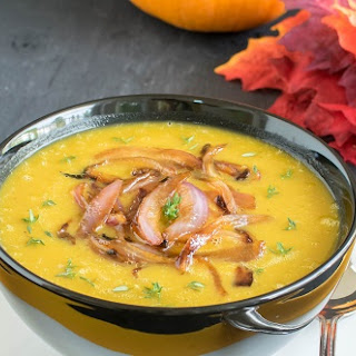 Apple Pumpkin Soup with Caramelized Onions Recipe