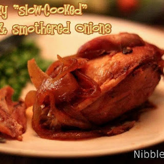 """Sticky """"Slow-Cooked"""" Chicken & Smothered Onions"""
