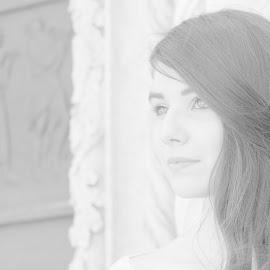 Marta by Suzana  Chelic - People Portraits of Women ( black and white, woman, beautiful, lady, portrait )