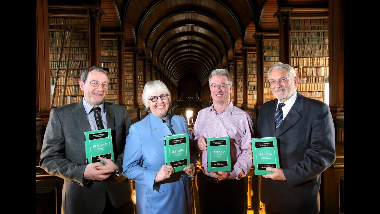 Volume editors James Kelly, Jane Ohlmeyer, Brendan Smith, and Thomas Bartlett at the Trinity College Dublin launch event.