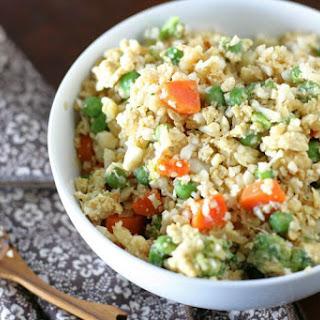 "Fried Rice with Cauliflower ""Rice"" option."