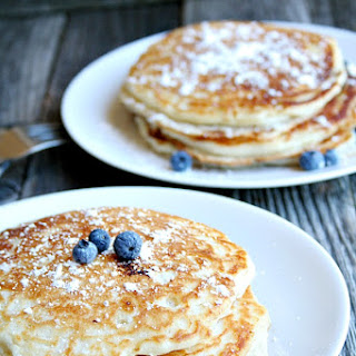 "The BEST ""buttermilk"" Blueberry Pancakes {using Greek yogurt}"