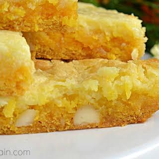 Tropical Mango Gooey Butter Cake.
