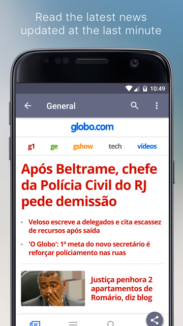 Brazilian Newspapers- screenshot