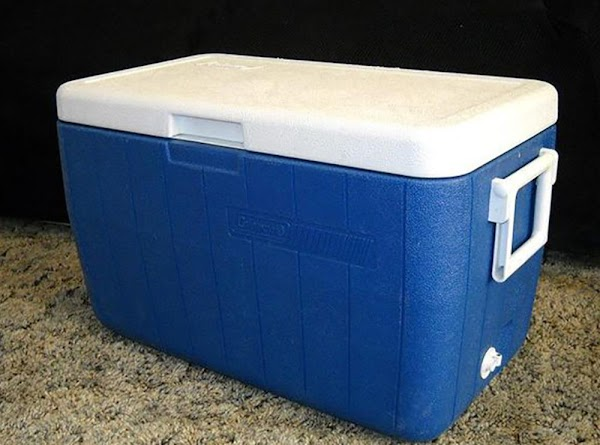 Leave the brisket tightly wrapped, and place in an insulated box (like a Colman...