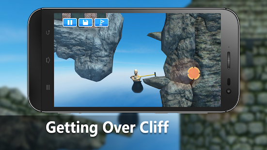 Getting Over It - Get Over The Cliff - náhled