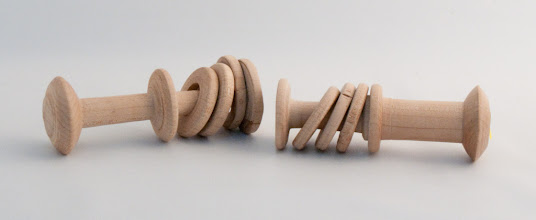 "Photo: Eliott Schantz - Test Captive Ring Rattles - 2"" x 5.5"" - Maple"