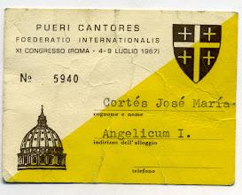 Photo: Mi acreditación. Viaje a Roma con la Escolanía. Julio 1967