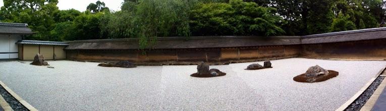 Photo: Rock garden at Ryoanji Buddhist temple.