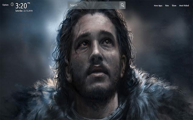 Jon Snow Wallpapers Theme New Tab