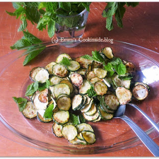 Grilled Zucchinis Marinated with Mint Recipe