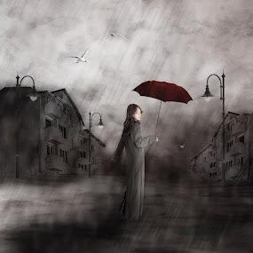 lonely walk by Yolita Yo - Digital Art Places