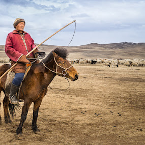 Guardian of the Steppe by Sam Alexander - People Portraits of Men