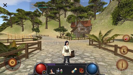 World Of Rest: Online RPG  captures d'u00e9cran 1