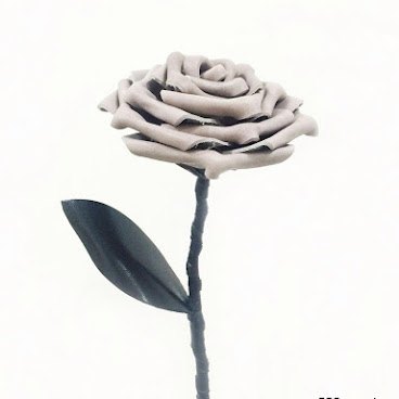 灰色皮革玫瑰