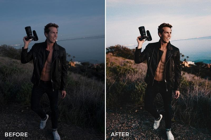Một bức ảnh đã được xử lý qua phần mềm preset lightroom
