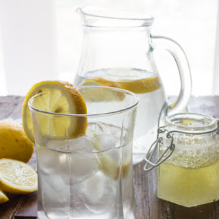 Candied Orange Lemon Syrup Drink