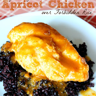 Easy Peasy Apricot Chicken over Forbidden Rice