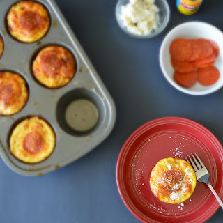 Pizza Egg Muffins with Potato Noodles