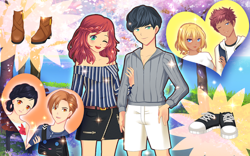 Anime Couples Dress Up Game android2mod screenshots 15