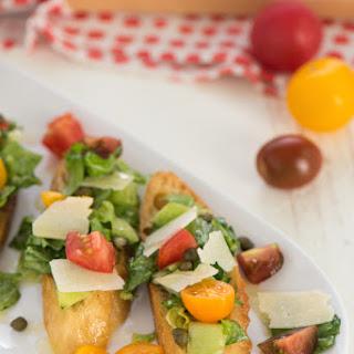 Tomato Caesar Salad Bruschetta