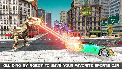Télécharger gratuit Dinosaur Robot Transform: Car Robot Transport Sim APK MOD 2