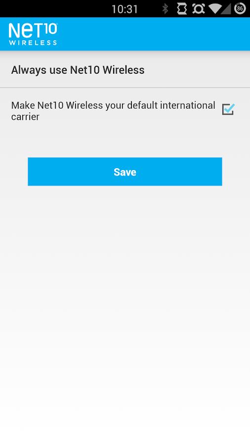 Net10 International Calls - screenshot