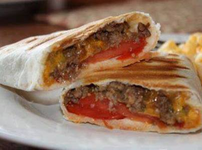 Grilled Cheeseburger Wraps Recipe