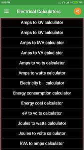 Electrical Calculator 3.1.1