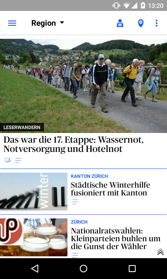 az Limmattaler Zeitung News- screenshot