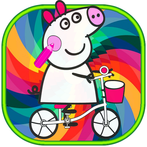 How to color Peppa Pig kids coloring
