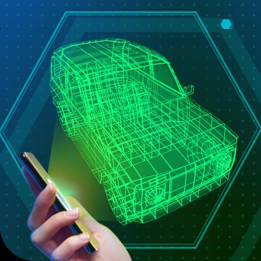 ロシアのカーホログラム 模擬 LOGO-玩APPs