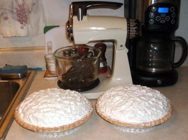 My Chocolate Pies Made With My Mom's Old Sunbeam Mixer That I Inheirted From My Mom's Estate.