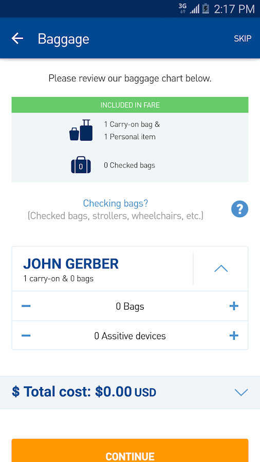 JetBlue- screenshot