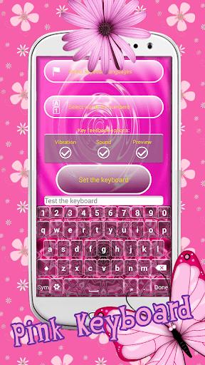 ピンク色キーボード設計テーマ