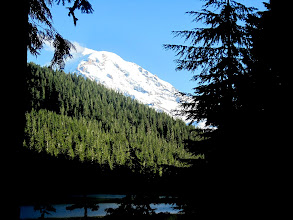 Photo: Mt. Rainier from Mowich Lake