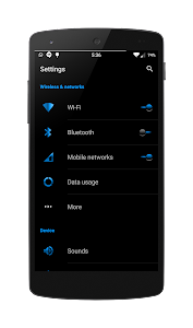 Blak Azurro  CM12-13 Theme screenshot 3