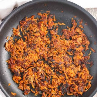 Spiced Sweet Potato Hash Browns (two ways!).