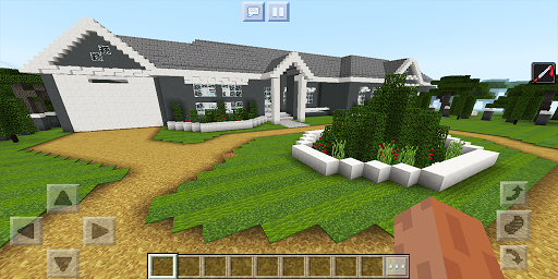 School and Neighborhood. Map for MCPE for PC