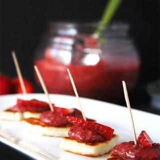 Strawberry Chia Jam & Halloumi Bites