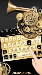 Golden Metal Keyboard - náhled
