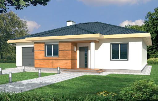 projekt Milenka wersja A z pojedynczym garażem