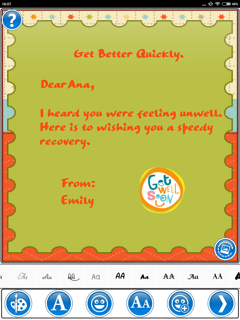 Скриншот Design Get Well Soon Greetings