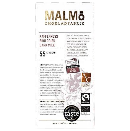Kaffekross mörk mjölkchoklad 55 % - Malmö Chokladfabrik
